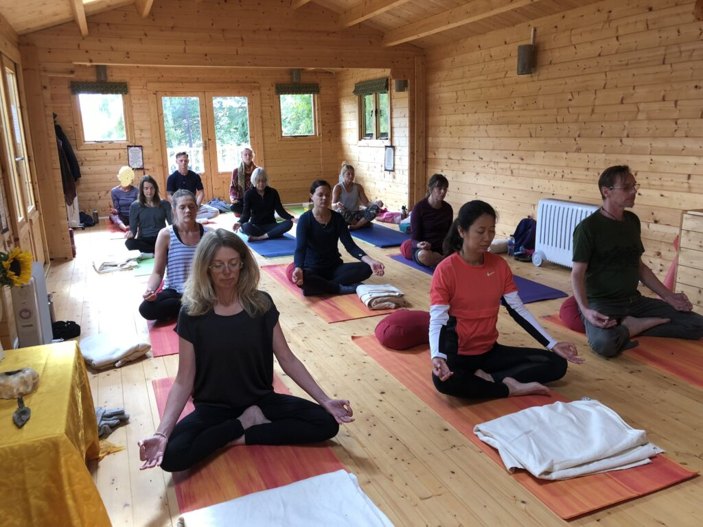 Group yoga at one of our yoga retreats